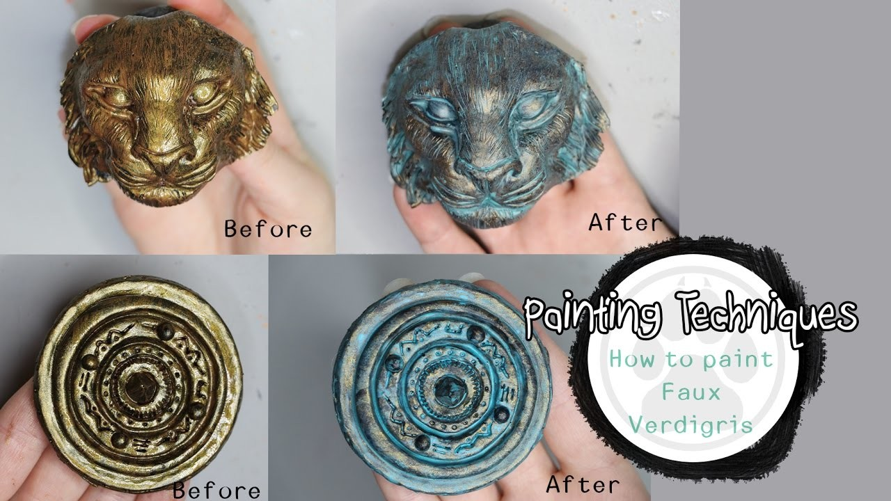 Painting Techniques - How to Paint Faux Verdigris