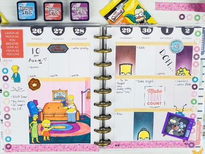 Plan With Me #10 | The Simpsons in my Happy Planner!