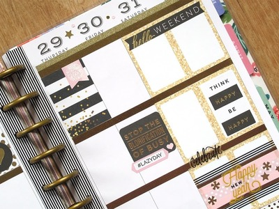 Plan With Me #26 NO Etsy Stickers: New Year's Eve week | The Happy Planner 2016