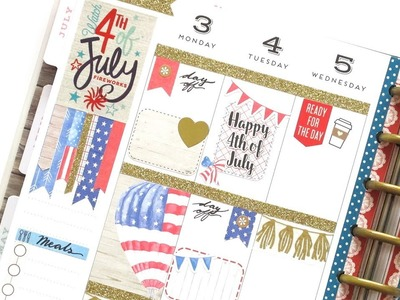 Plan With Me - 4th of July | The Happy Planner 2017