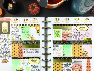 Plan with Me  Halloween Edition ( Mambi Happy Planner)
