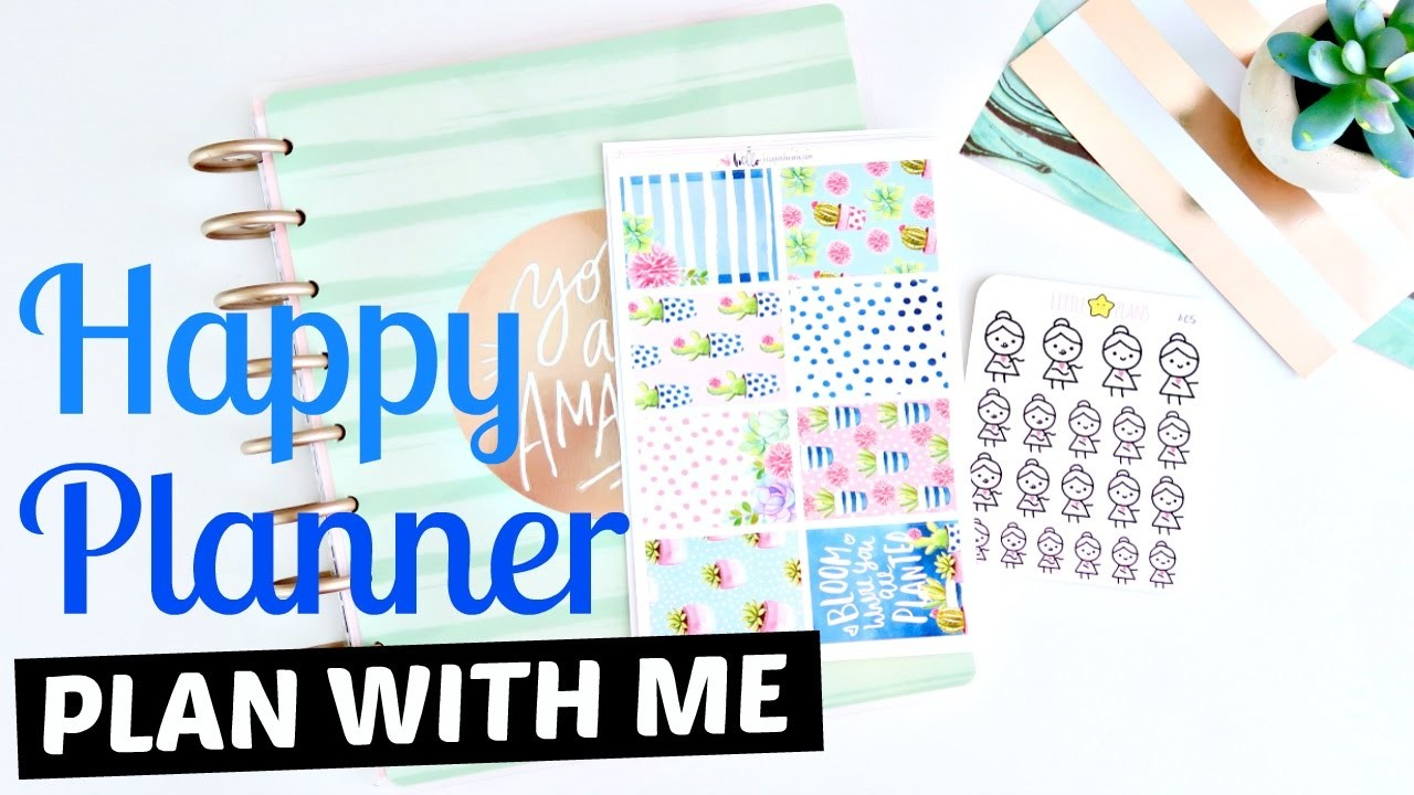 Plan With Me: Happy Planner Ft. Hello PetitePaperCo. & Little Star Plans