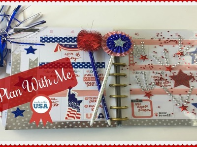 PLAN WITH ME | HAPPY PLANNER | Red, White, and Blue Theme