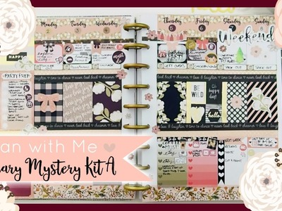 Plan With Me  ❤ JANUARY Mystery Kit A ❤ 2017 Week 1     ThePinkRoomCo.????
