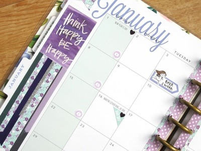 Plan With Me Monthly January: Wintry Colors | The Happy Planner 2017