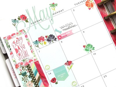Plan With Me Monthly - May: Rub-ons from Target | The Happy Planner 2017