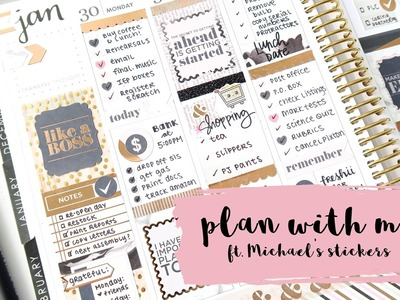 Plan With Me - New Michael's Recollections Stickers!