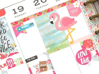 Plan With Me - NO Etsy Stickers: Mambi Boxes + Doodlebug Deco | The Happy Planner 2017