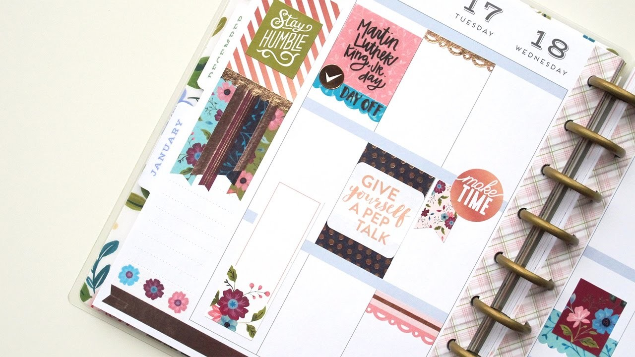Plan With Me - NO Etsy Stickers: Recollections | The Happy Planner 2017