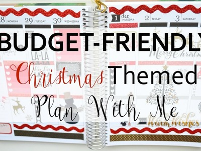 PLAN WITH ME on a BUDGET! No Kit!! Christmas December 2016 || Life With Sarah