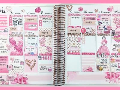 Plan With Me: Pink Valentine | Erin Condren Vertical