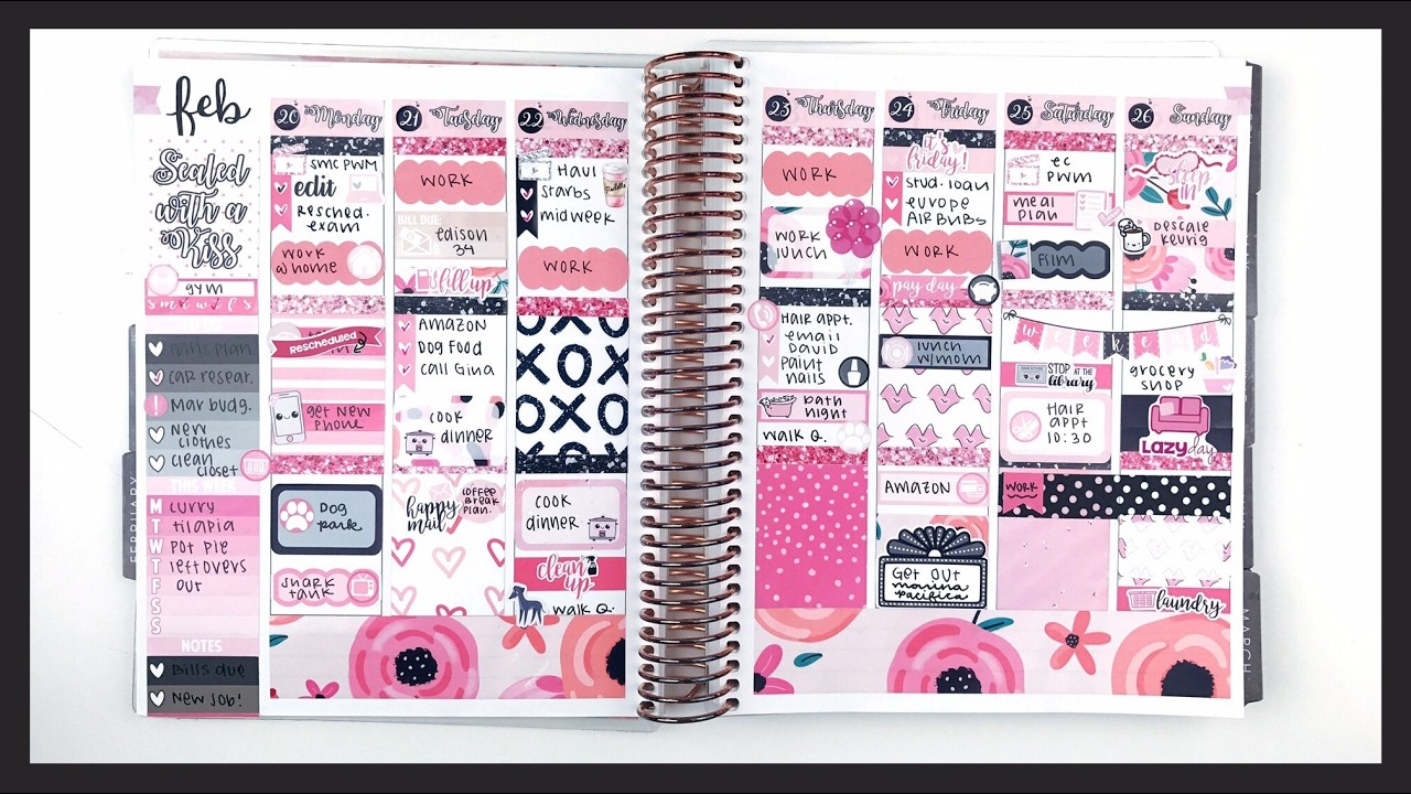 Plan With Me: Sealed With A Kiss | Erin Condren Vertical