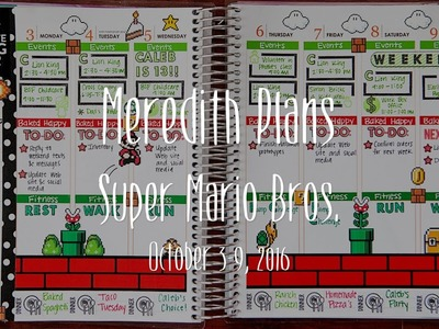 Plan with Me Stamping. & Stickers! - Super Mario Bros., October 3-9, 2016