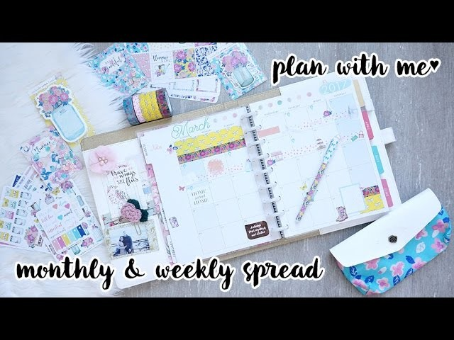 Plan With Me Sunday ♥ March 2017 Set Up + Weekly Spread   Charmaine Dulak
