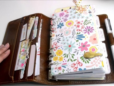 Planner Setup August 2016. Personal Filofax Malden. Pink Planner Girl