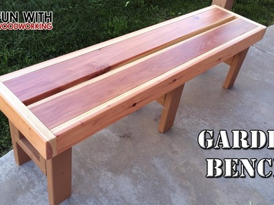 Project - How to build a quick and easy garden bench out of redwood 2x6's and 2x4's