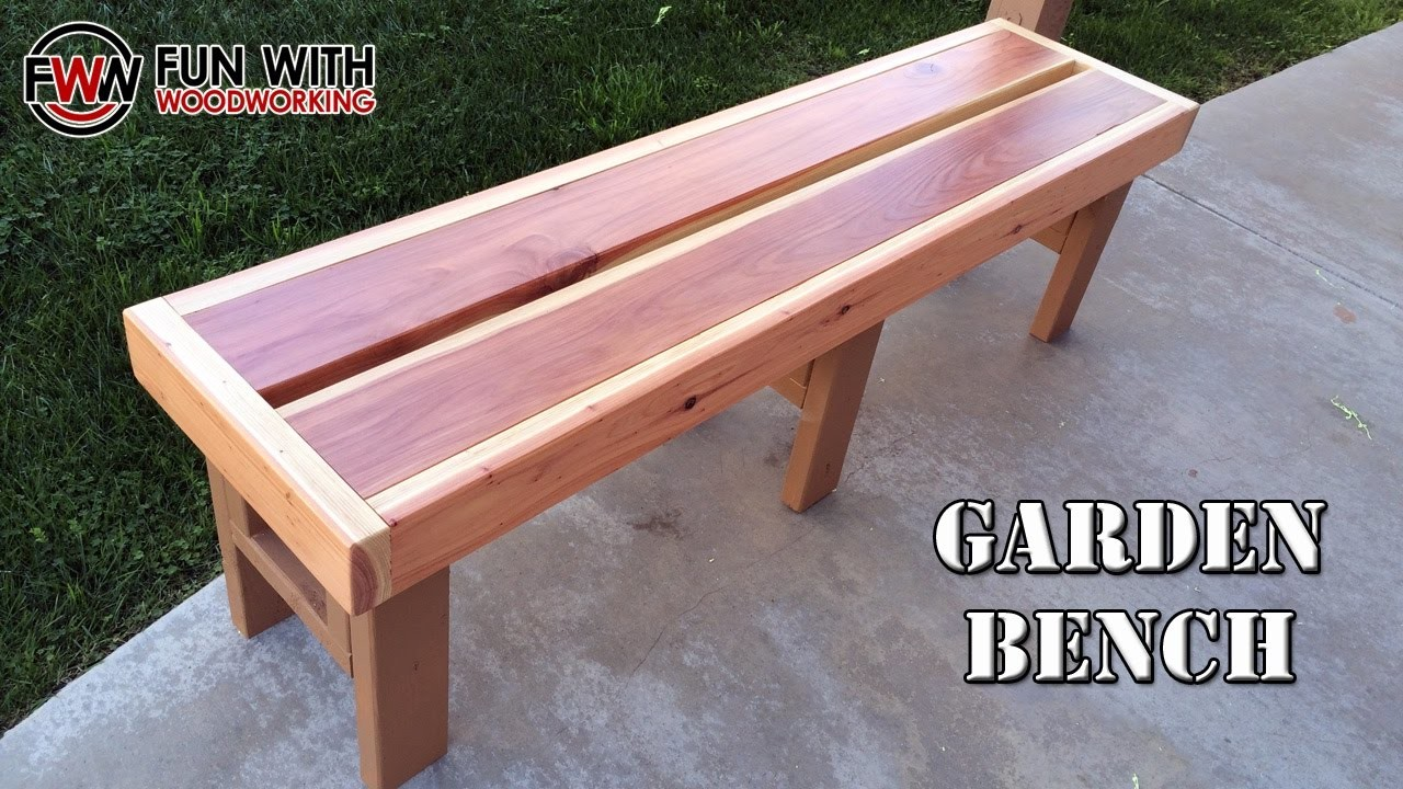 Project how to build a quick and easy garden bench out How to build a garden bench