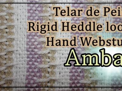 Telar de Peine Punto AMBAR Pattern Rigid Heddle Loom Hand Webstuhl Muster Lana Wolle