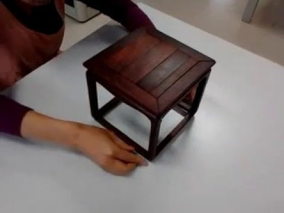 The assembly of Ming Dynasty style furniture