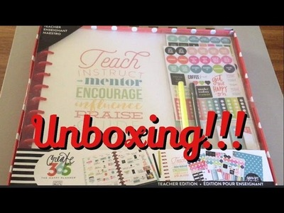 ***UNBOXING*** MAMBI Happy Planner Teacher Box Kit