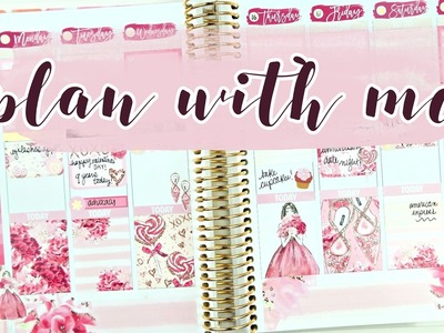 Valentine's Plan with Me! Collab with The Planner Sophisticate ft. Two Lil Bees