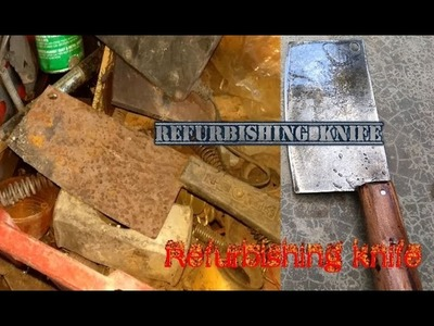 Very rusty cleaver (butcher knife) restoration part 1 - Refurbishing a very cool vintage knife
