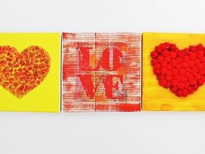 3 Creative Gift Ideas Valentine's Day - Canvas Creative Gift - Fast & Easy Tutorials - DIY