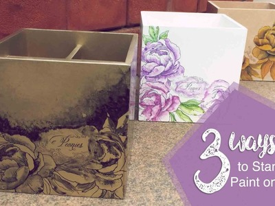 3 ways to STAMP & PAINT on MDF