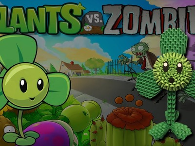 3D Origami Blover tutorial from the Plants vs Zombies game