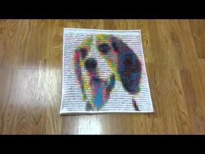 3D origami good dog mosaic