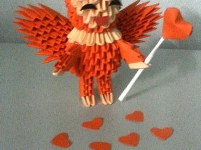 3d origami Love Angle- part1. Thần tình yêu origami - poppy9011