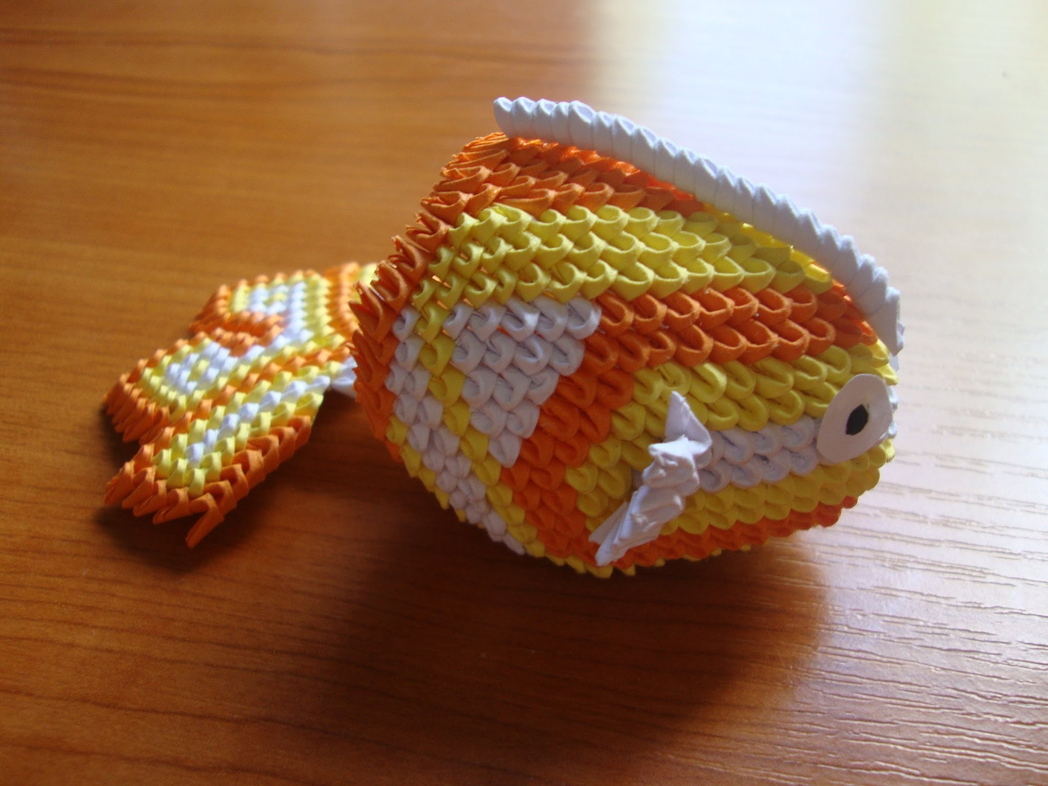 3D origami mini koi fish - photo#29