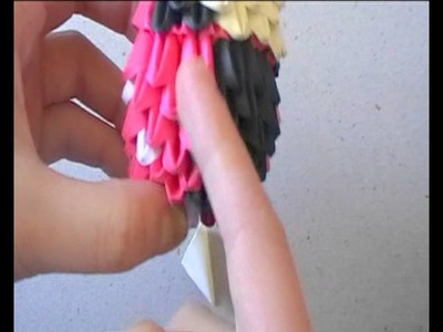 3D origami time lapse: ladybug suit