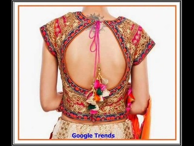 Bridal wear trendy designer saree blouse designs with tassels