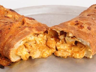 Buffalo Chicken Stromboli Recipe - Laura Vitale - Laura in the Kitchen Episode 871