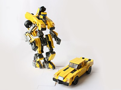 Building a transformer Bumblebee with Lego