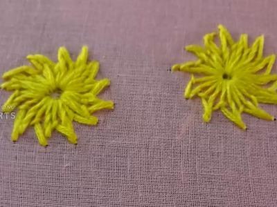 Chrysanthemum Cross Stitch Pattern - Chamanti Stitch in Embroidery Classes By Amma Arts