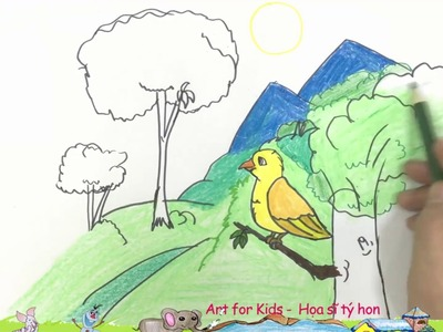 Coloring Pages Bird | How To Draw Bird | Drawing Pages | Learn Colors