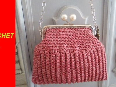 CROCHET BAG WITH HANDLE back stitch pattern