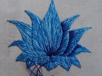 Day 12. What Can I Sew in 20 Minutes? Lotus Flower. Craft Jitsu Online Hand Embroidery Class