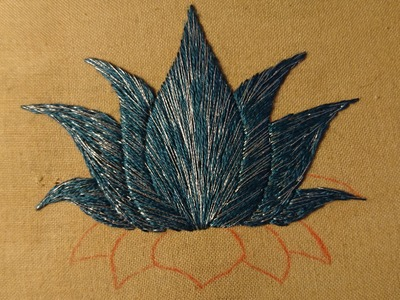 Day 8. What Can I Sew in 20 Minutes? Lotus Flower. Craft Jitsu Hand Embroidery Online Class