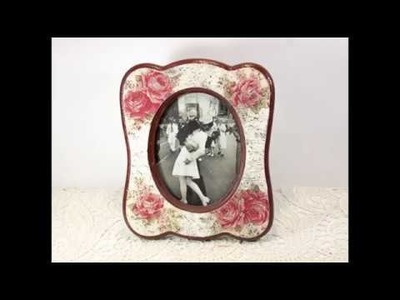 Decoupage for beginners tutorial #46 - DIY picture frame making decoration ideas