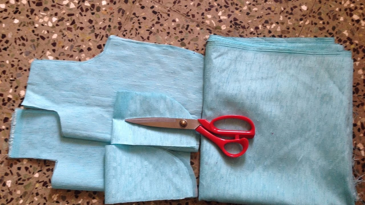 DESINGNER BOX PLEATS FROCK WITH CAP SLEAVES CUTTING IN A SIMPLE AND EASY WAY STEP BY STEP PART - 1