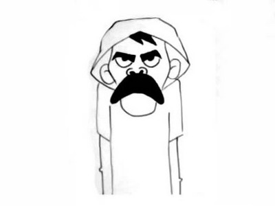 Dibujando a Don Ramon - from chavo del 8 - by wizard