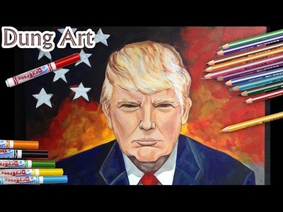 Donald trump | how to draw presents Donald trump | President Elect of the United States 2017