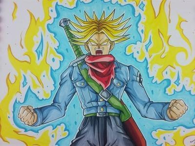 Drawing FUTURE TRUNKS Super Saiyan BLUE OF RAGE   Dragonball Super   TolgArt