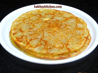 Eggless Sweet Pancake with Leftover Sugar Syrup-Meetha Cheela-Easy and Quick Meetha Cheela Recipe