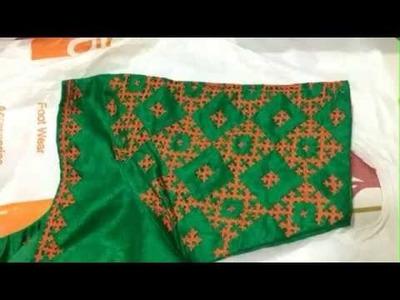 Embroidery kutch maggam mirror handwork blouse designs