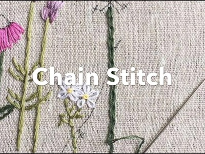 Embroidery Tutorial - Chain Stitch | Chrissie Crafts