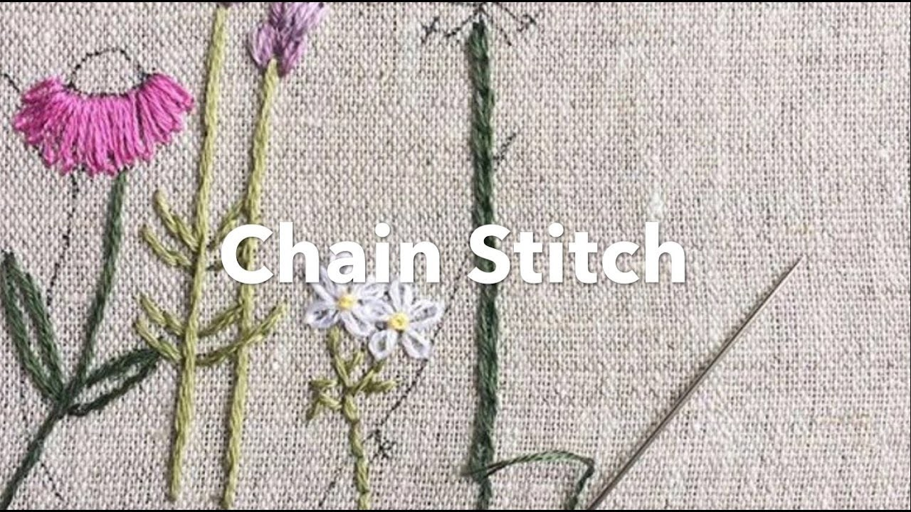 Embroidery Tutorial - Chain Stitch, Chrissie Crafts, My Crafts and DIY Projects